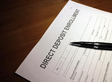Direct deposit signup for care providers