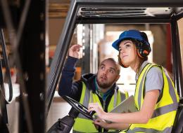 Mission: Zero, worker learning how to safely use forklift